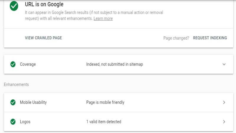 ابزار URL Inception در گوگل سرچ کنسول جدید