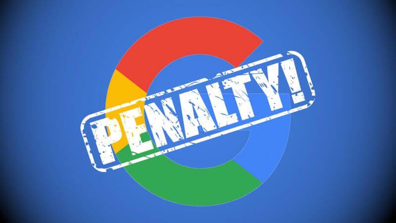 جریمه دستی گوگل