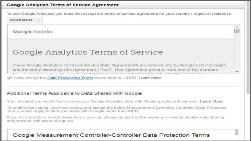 قوانین گوگل آنالیز