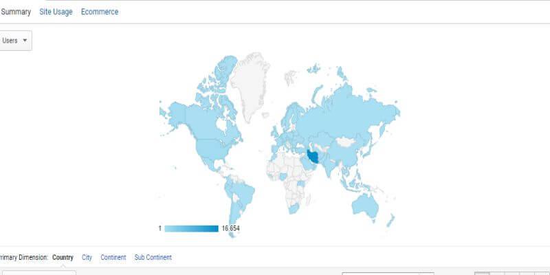 Geo یا اطلاعات جغرافیایی در گوگل آنالیتیکس