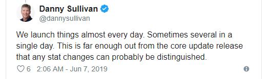ارتباط آپدیت گوگل سرچ با آپدیت June 2019