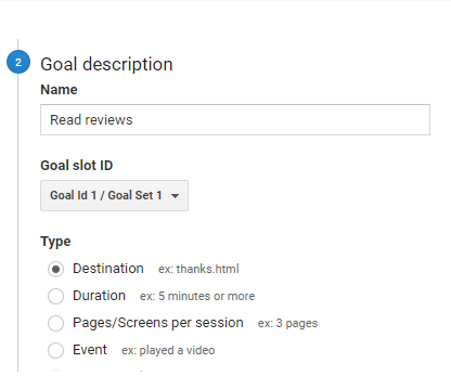 Goal description